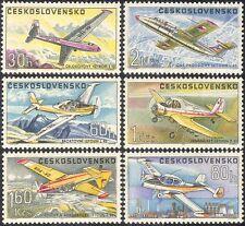 CECOSLOVACCHIA 1967 AEREI/Aeronautica/Aviazione/Trasporto/MILITARY/Sport 6 V n35491