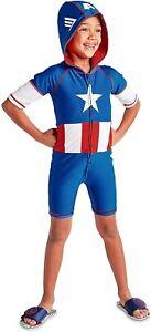 Disney Store Marvel Captain America Wetsuit Costume Swimsuit Boys Size 5/6