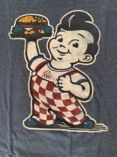 Bob's Big Boy HAMBURGER T shirt  Blue EXTRA-Men's Medium