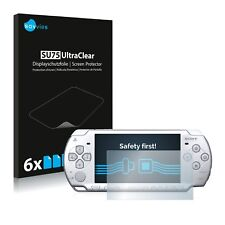 6x Savvies protector de pantalla para Sony PSP 2004 transparente