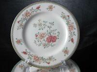 Minton Jasmine Royal Doulton Bread Plate Gold Trim Floral Peach White Floral 6.5