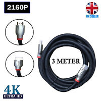 Braided Ultra HD HDMI Cable v2.0 High Speed + Ethernet HDTV 2160p  3 Meter
