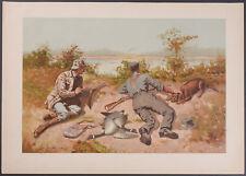 Gould Sport - Canada Goose Shooting. 14 - 1889, Remington Folio Chromolithograph