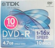 100 x TDK DVD-R Blank Discs 4.7GB in Slim Jewel Case **Warehouse Pickup Only**