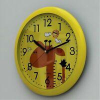 Childrens Wall Clock Kids Animal giraffe Design Bedroom Play Room Indoor Gift