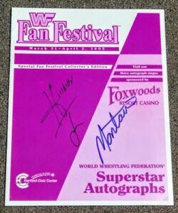WWF WWE WrestleMania 11 Autographed Fanfest Program Signed By 32 Owen Bulldog