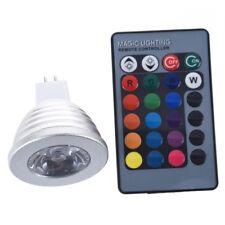 MR16 3W 16 Farbe RGB-LED-Gluehlampe-Lampe + IR-Fernbedienung J1L1
