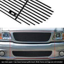 Fits 99-03 Ford F-150 Lightning Black Billet Grille Combo