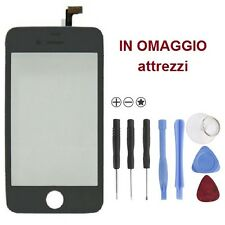 Vetrino Originale Touch screen NERO + frame + attrezzi per iPhone 4 VETRO