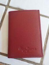 Portefeuille neuf en cuir marque PEPE JEANS bordeaux porte cartes