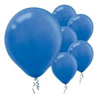 12cm BRIGHT ROYAL BLUE LATEX BALLOONS PACK OF 10  PARTY DECORATIONS BIRTHDAYS