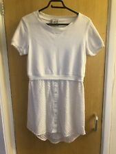 Sea New York Short Sleeve Sweater Jumper Dress Lace Detail Size 10?