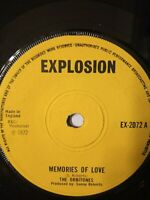 "The Orbitones / Sonny Earl ‎– Memories Of Love / In Peace 7"" Vinyl Single 1972"