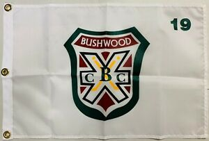 Caddyshack Bushwood Country Club Logo White Golf Pin Flag