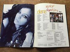 """Diana Ross"" Tourbook Time Piece Workin' Overtime Tour 1989 Booklet RARE!"