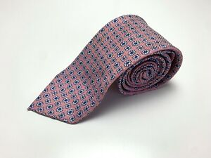 Drake's NWOT Pink Floral Silk Linen Mens Neck Tie Made In England