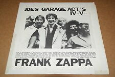 Could This Be Joe's Garage Acts IV and V Live? Rare Zappa Bootleg MZ3605 (1980)