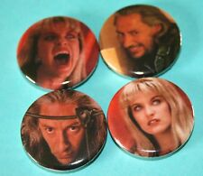 Set Of 4 Laura Palmer & Bob Twin Peaks inspired button pin badges