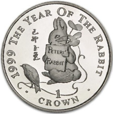 1 One Crown coin GIBRALTAR 1999 Peter Rabbit calendrier lunaire chinois très rare
