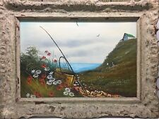 Beautiful Oil / Acrylic on Canvas Painting Signed C Fischer Antique Framed