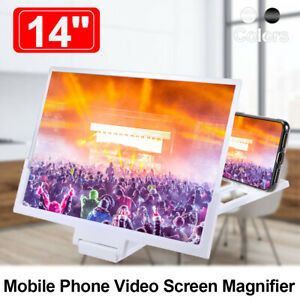 Carolilly Phone Enlarger Screen Foldable 3D Screen Magnifier Amplifier Screen Zooms in 2-4 times for All Smartphones Black, One Size