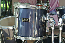 """ADD this PEARL 13"""" EXPORT GUN METAL BLUE RACK TOM to YOUR DRUM SET TODAY! #V280"""