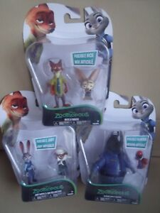 BNIP Disney ZooTropolis Two Character Sets Judy/May Nick/Finnick McHorn/Squirrel