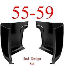55 59 Chevy GMC Cab Corner Set, 2nd Design, Truck