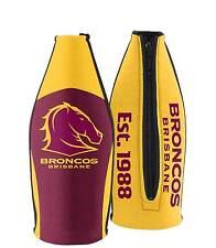 Brisbane Broncos NRL TALLIE LONG NECK Beer Wine Bottle Zip Cooler Bar Man Cave