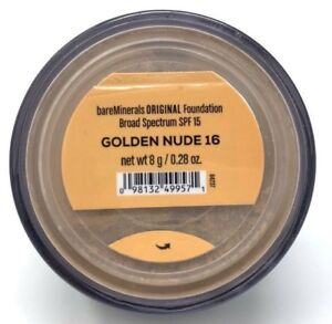 BareMinerals bareescentuals Loose Face Powder original Foundation Golden Nude 16