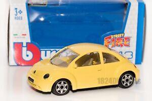 VW New Beetle in Yellow, Bburago 18-30057, scale 1:43, gift toy car model