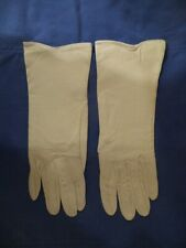Christian Dior Vintage Ivory White Leather Gloves 6 New