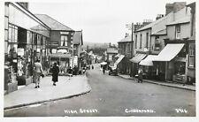 More details for cinderford high street. vintage photographic postcard