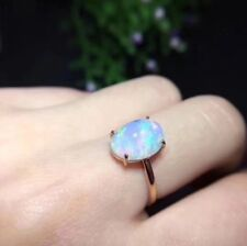 Real Natural Opal GEMSTONE 925 Sterling Silver Ring Romantic Anniversary Gift