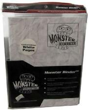 Monster Album Binder 9 Pocket Marble White With 20 White Sideloading Pages CNY