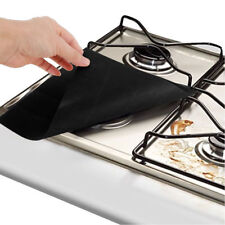 4X Reusable Gas Stove Burner Cover Protector Liner Kitchen Cleaning Mat Pad SET