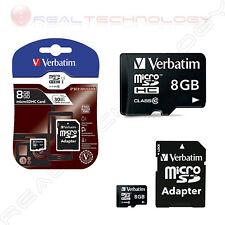 MICRO SD CON ADATTATORE SD Flash card Micro-SD 8GB Verbatim 44081 CLASSE 10