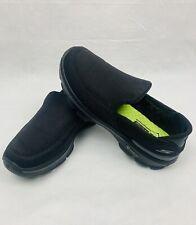 Women's Skechers Go Walk 3 Black Slip On Goga Mat Sneakers Shoes Sz 8 EUC