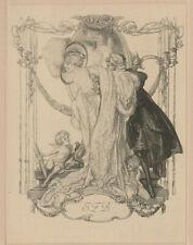 Franz von Bayros (A) 1866-1924 Erotica Exlibris Erotic Cupid Bookplate #54 1912
