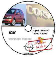 MANUALE OFFICINA OPEL CORSA C 2000 - 2003 WORKSHOP MANUAL SERVICE DVD CD