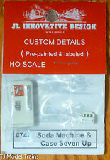 JL Innovative Design #747 Soda Machine & Case Seven Up (HO Scale)