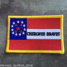 Cherokee Braves Civil War Flag Patch