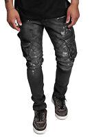 Herren Jeans Hose Regular Skinny Fit Cargo Jeanshose Basic Stretch John Kayna