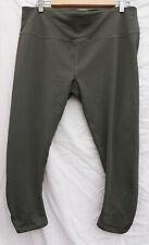 PRANA XXL olive green Yoga LEGGING running pants, polyester and spandex