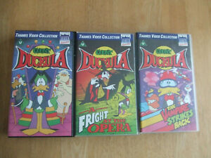 3 COUNT DUCKULA Video's A Fright At The Opera,Vampire Strikes B & Count Duckula