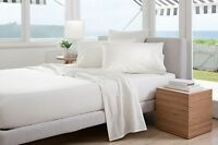 Sheridan Adkins 700TC QUEEN Bed sheet Set in White RRP $429.95