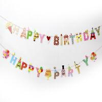 Bonne fête/anniversaire drapeau de la bannière Bell guirlande décor