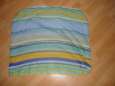 Pieces Loop Schal bunt gestreift blau,gelb,grün