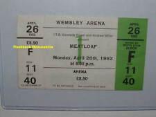 MEATLOAF Unused Concert Ticket APR 26, 1982 WEMBLEY ARENA London U.K. VERY RARE