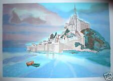 Georges LAMBERT Lithographie signée Mont Saint Michel Normandie